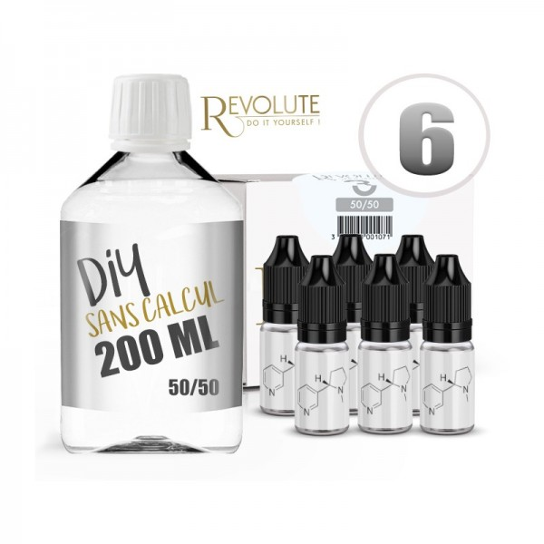 Pack DIY 200ml 6mg Revolute